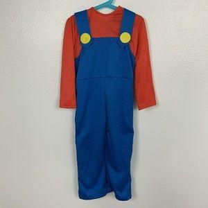 Super Mario Boy Costume Halloween Red Blue Sz: S